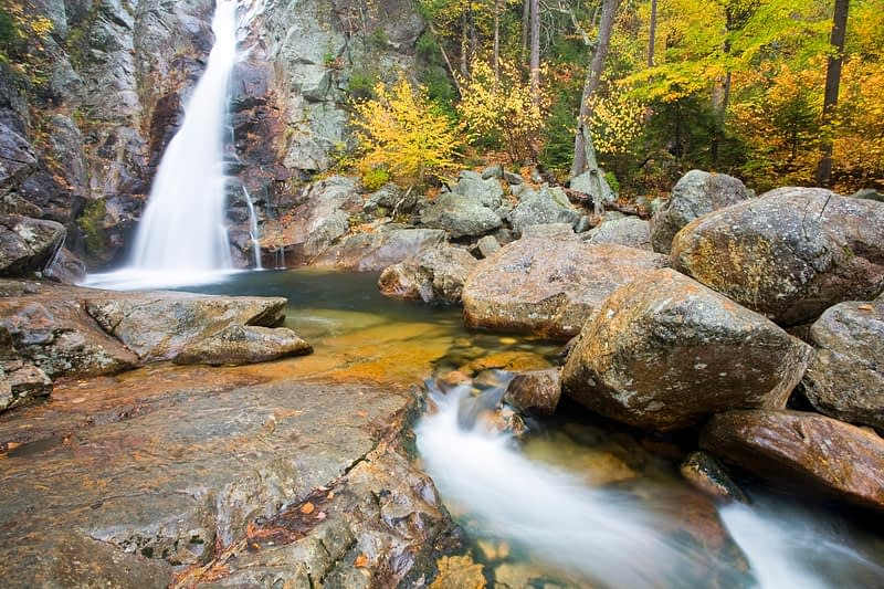 Glen Ellis Falls, White Mountains, New Hampshire, USA.