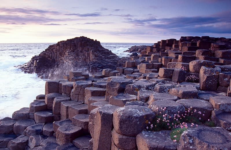 Evening at the Giant's Causeway, Co Antrim, Northern Ireland.