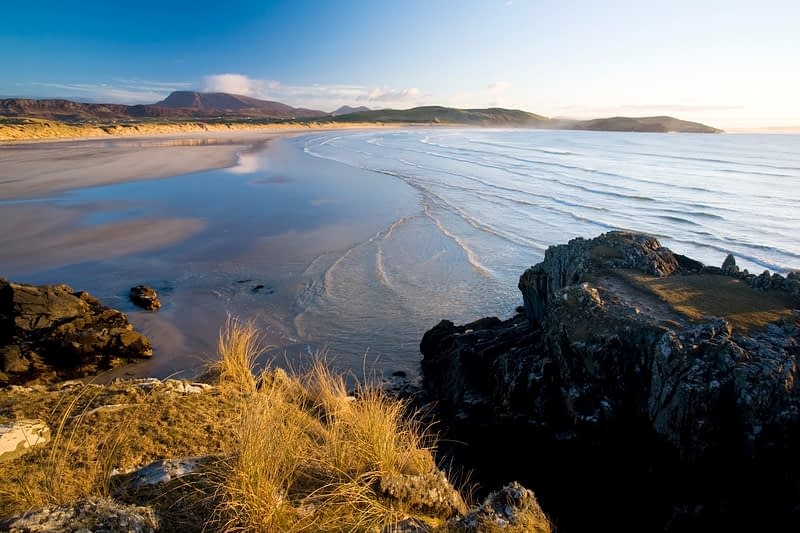 Curragh Harbour and Tramore Strand, Horn Head, Co Donegal, Ireland.