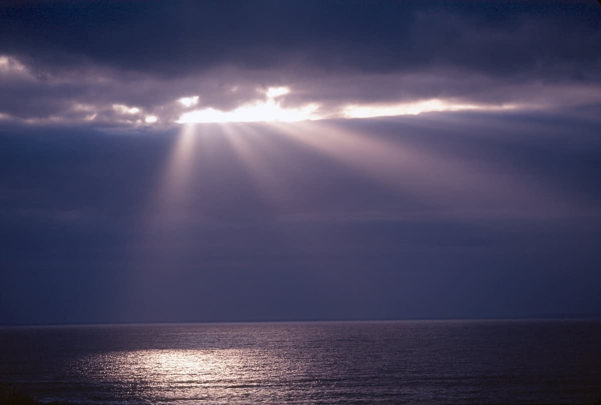 Stormlight over the sea, Co Donegal, Ireland.