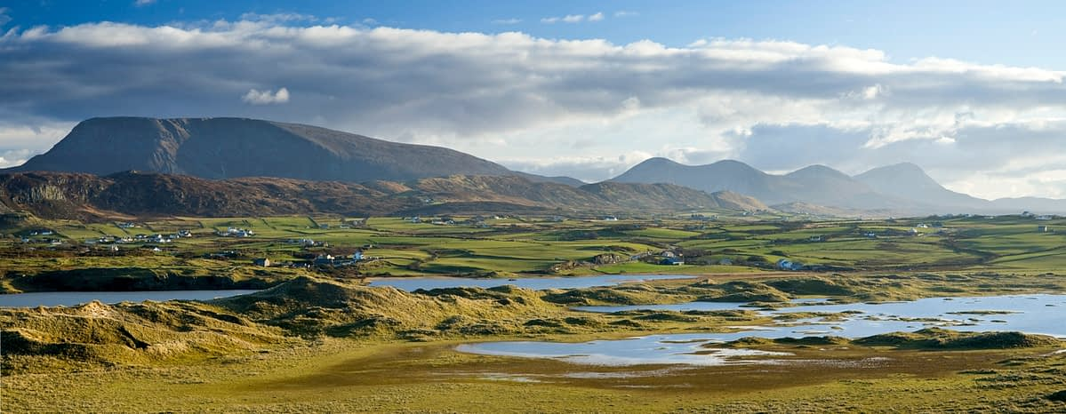 New Lake and the north Donegal mountains, Co Donegal, Ireland.