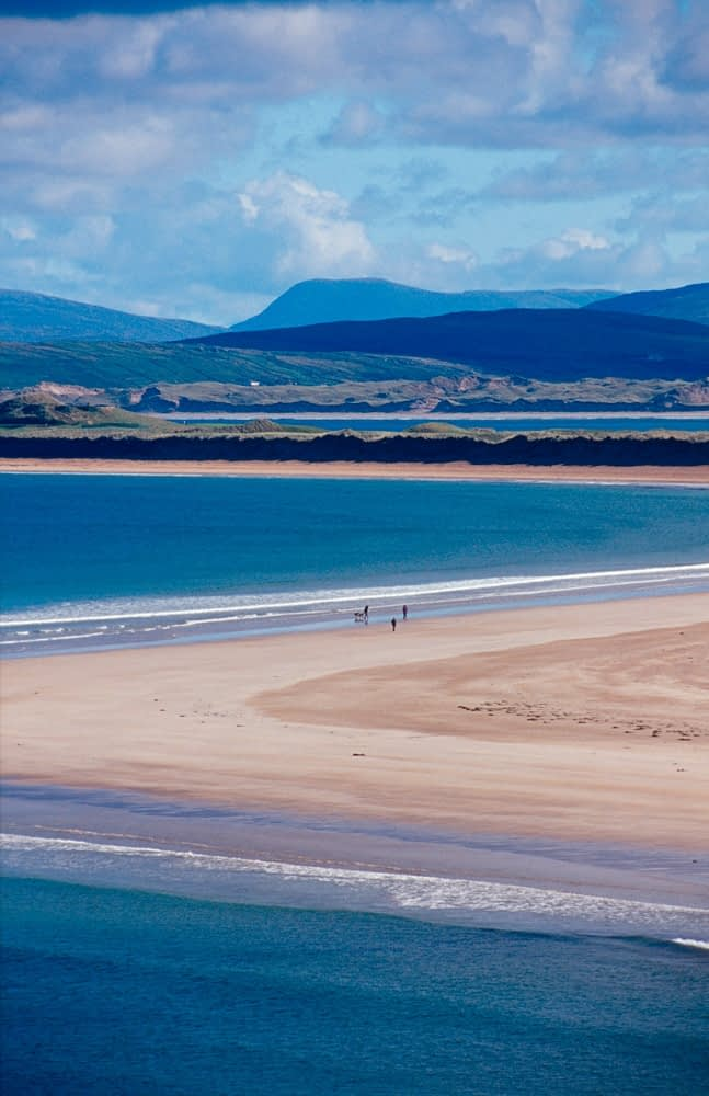 View accross Tramore Strand, Portnoo, Co Donegal.