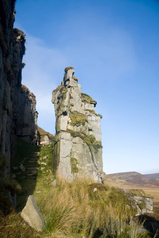 Rock pinnacle and mass site beneath Slieve Anierin, Co Leitrim, Ireland.