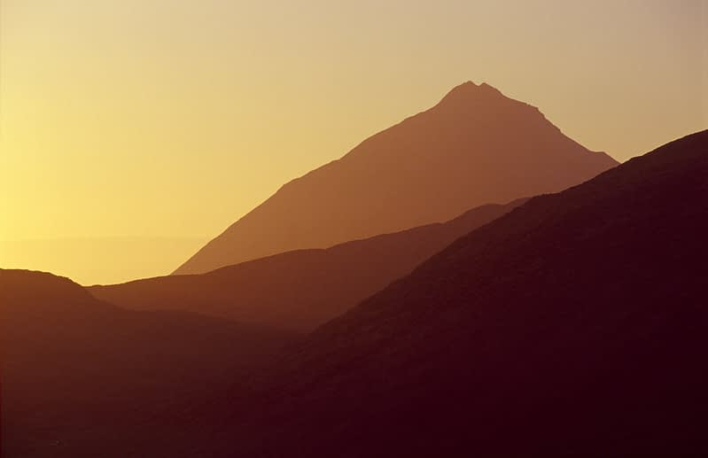 Evening light on Errigal Mountain, Co Donegal, Ireland.