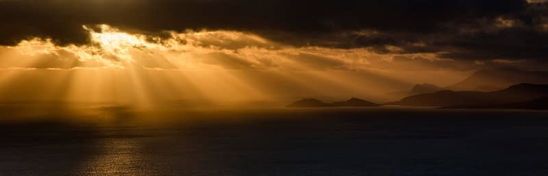 Clew Bay sunset, County Mayo, Ireland.