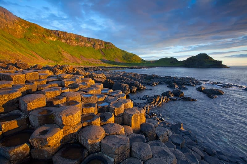 Evening light, Giant's Causeway, Co Antrim, Northern Ireland.