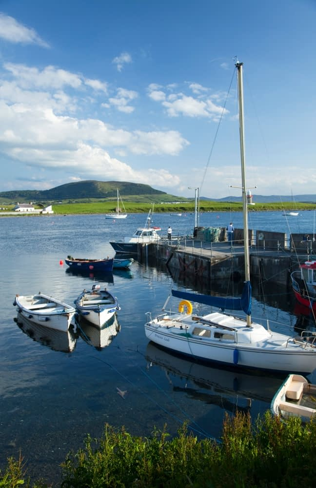 Boats in the harbour at Rosses Point, Co Sligo, Ireland