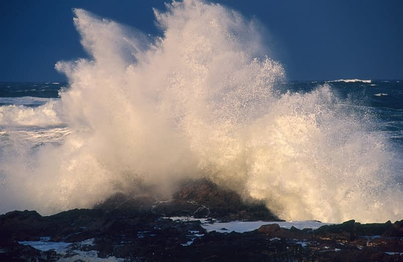Atlantic storm spray, Inishowen Peninsula, County Donegal, Ireland.