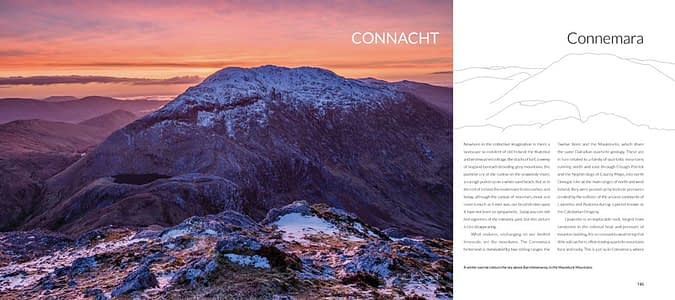 Photography books Ireland - inside pages of an Irish landscape photo book