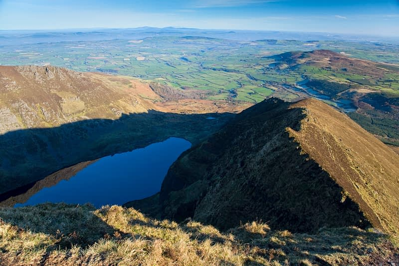 View over Coumshingaun, Comeragh Mountains, Co Waterford, Ireland.