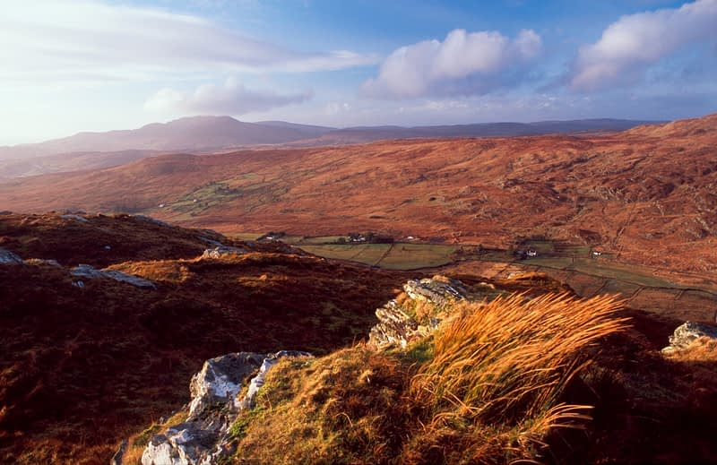 View of Glenaddragh Valley from Crownarad, Co Donegal, Ireland.