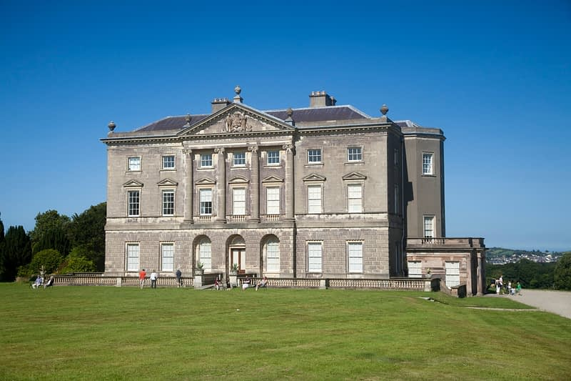 The 18th century manor house of Castleward, Co Down, Northern Ireland.