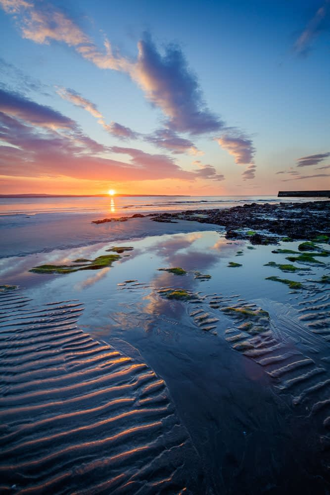 Coastal sunset from Enniscrone Beach, County Sligo, Ireland.