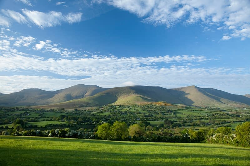 Glen of Aherlow beneath the Galtee Mountains, Co Tipperary, Ireland.
