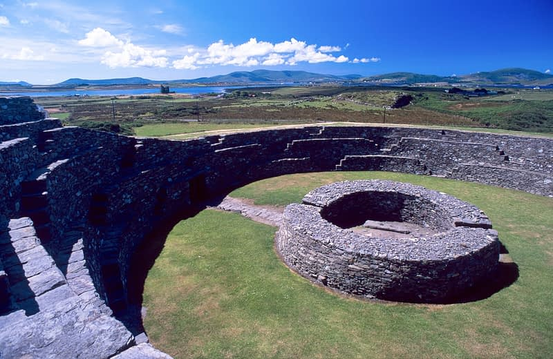 10th century Cahergal Ring Fort, Cahersiveen, Co Kerry, Ireland.