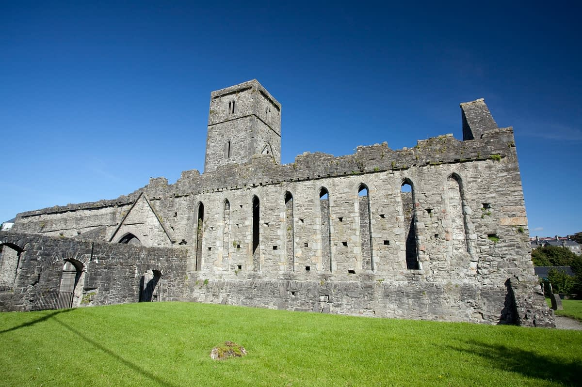 13th-century ruins of Sligo Abbey, Co Sligo, Ireland.