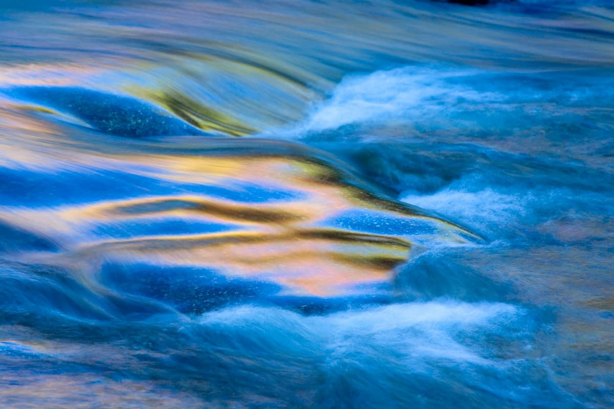 Moving water, Swift River, White Mountains, New Hampshire, USA.