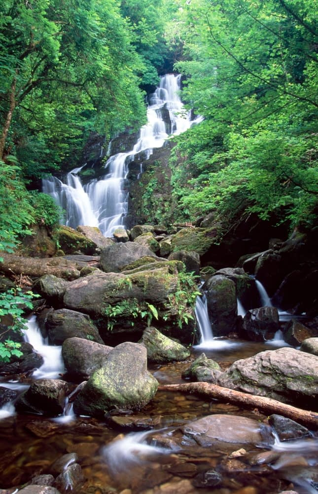 Torc Waterfall, Killarney National Park, Co Kerry, Ireland.