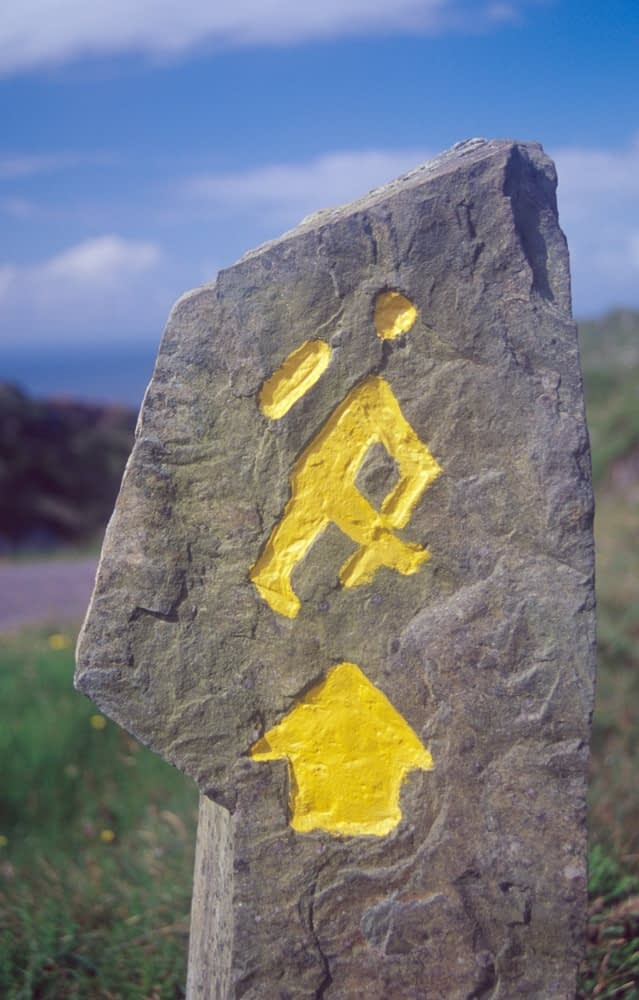Waymarker on the Sheep's Head Way, west Cork, Ireland.