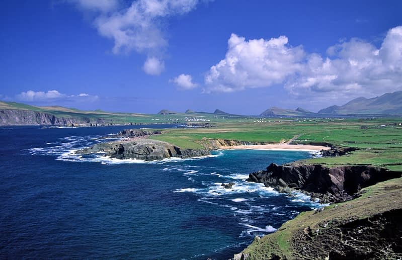 View over Clogher Bay and the Dingle Peninsula, Co Kerry, Ireland.