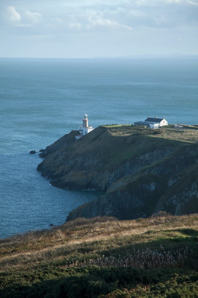 View over Baily Lighthouse, Howth Peninsula, County Dublin, Ireland.
