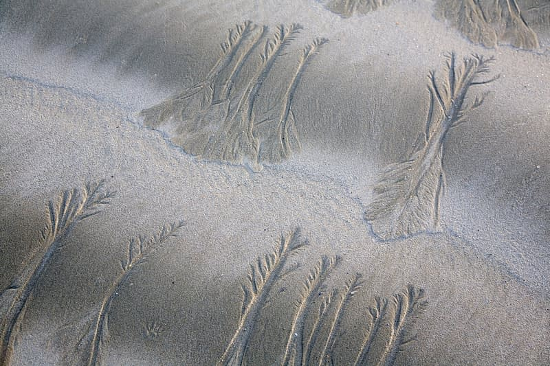 Water erosion patterns on a beach, Connemara, Co Galway, Ireland.