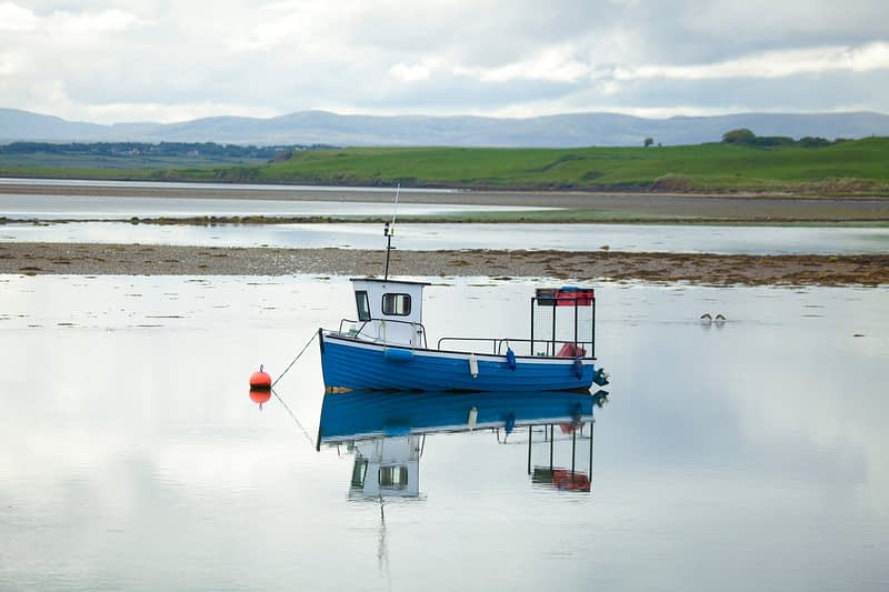 Lobster fishing boat, Killala Harbour, County Mayo, Ireland.