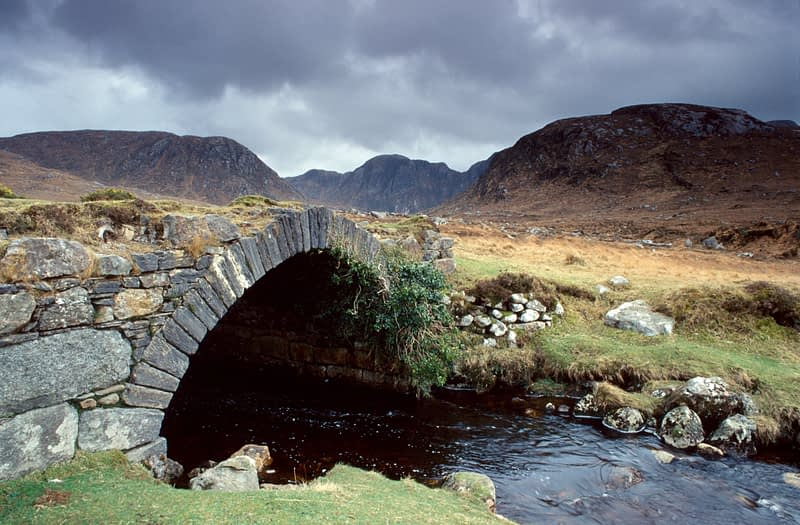 Old bridge to the Poisoned Glen, Dunlewy, Co Donegal, Ireland.