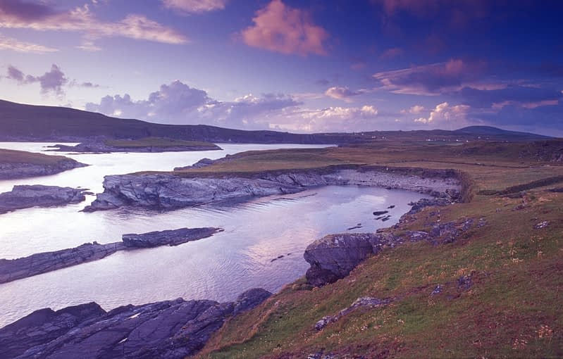 Coastal scenery near Portmagee, Iveragh Peninsula, Co Kerry, Ireland.