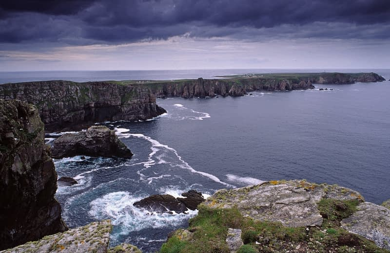 View along the north coast of Tory Island, Co Donegal, Ireland.