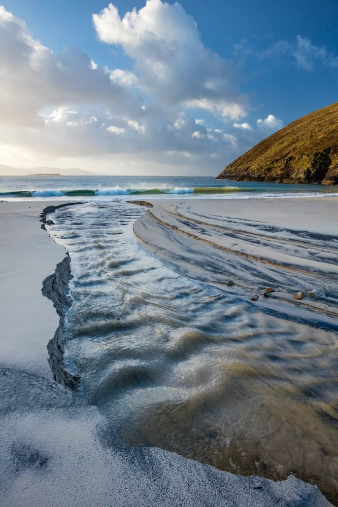 Stream on Keem Strand, Achill Island, County Mayo, Ireland.