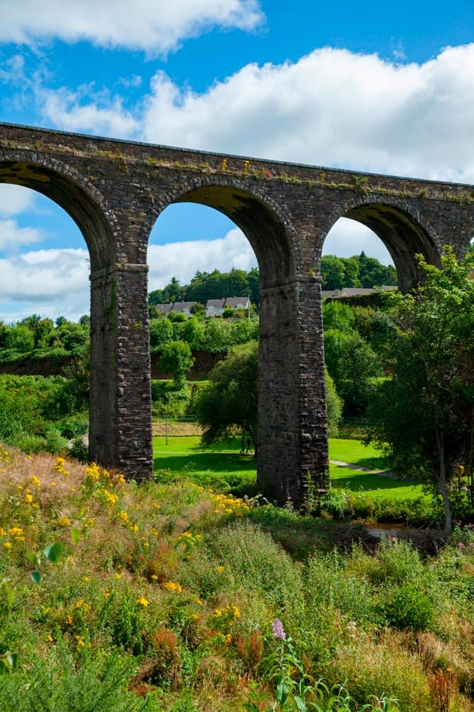 Kilmacthomas Viaduct on the Waterford Greenway, Kilmacthomas, County Waterford, Ireland.