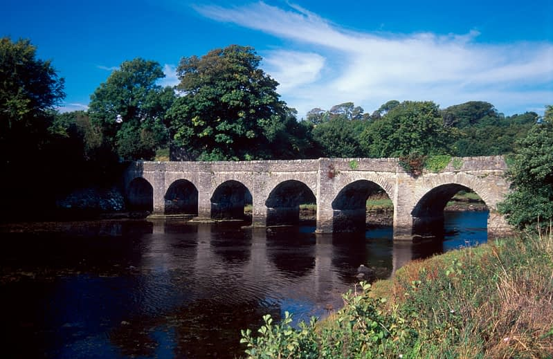 Castle Bridge, Buncrana, Inishowen, Co Donegal, Ireland.