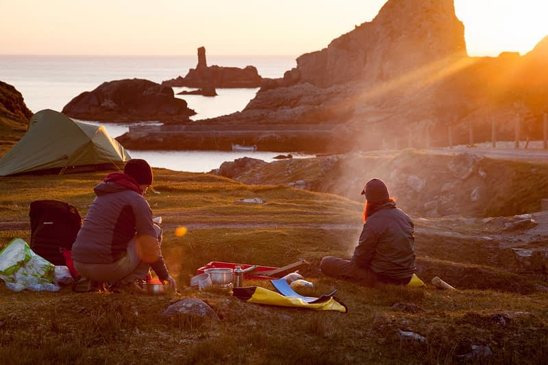 Wild camping at Port, Glencolmcille, County Donegal, Ireland.