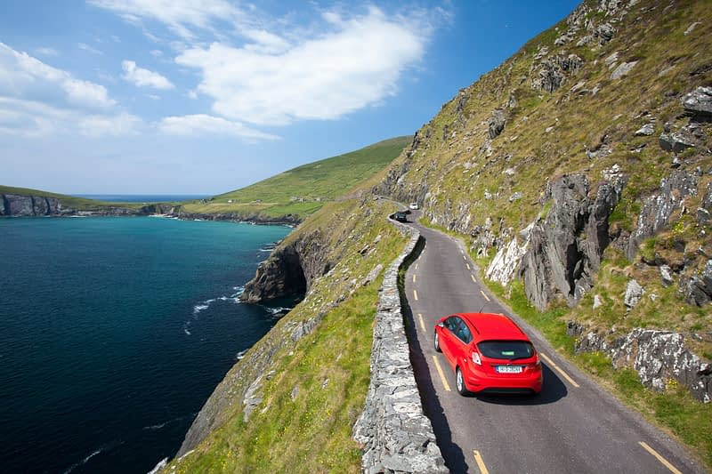 Coast road around Slea Head, Dingle Peninsula, County Kerry, Ireland.