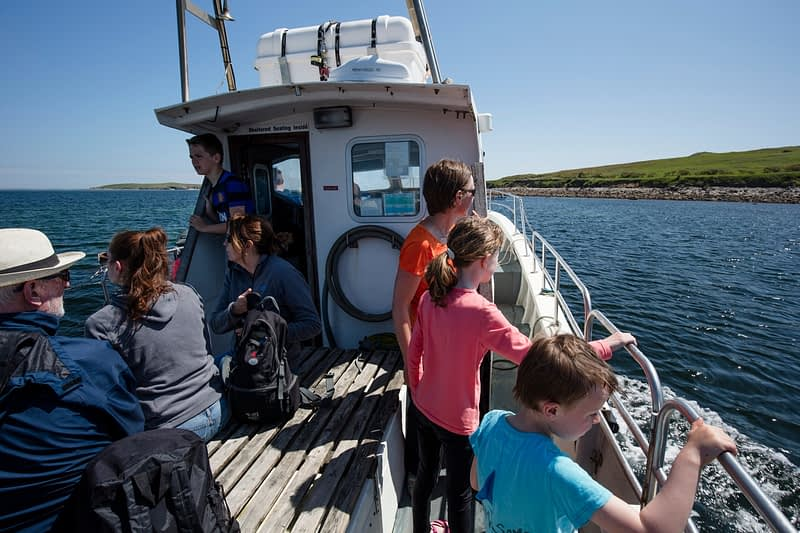 On the ferry to the Saltee Islands, County Waterford, Ireland.