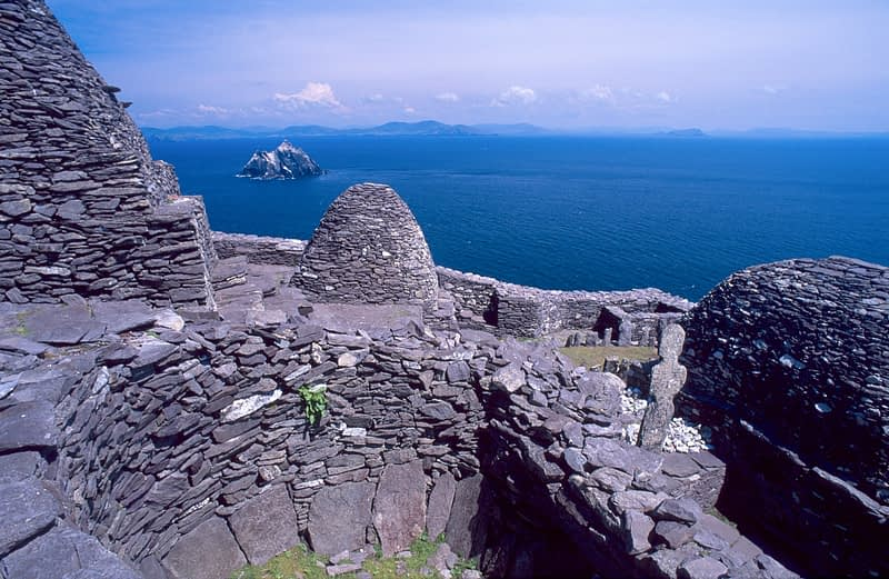 6th century monastic settlement of Skellig Michael, Co Kerry, Ireland.