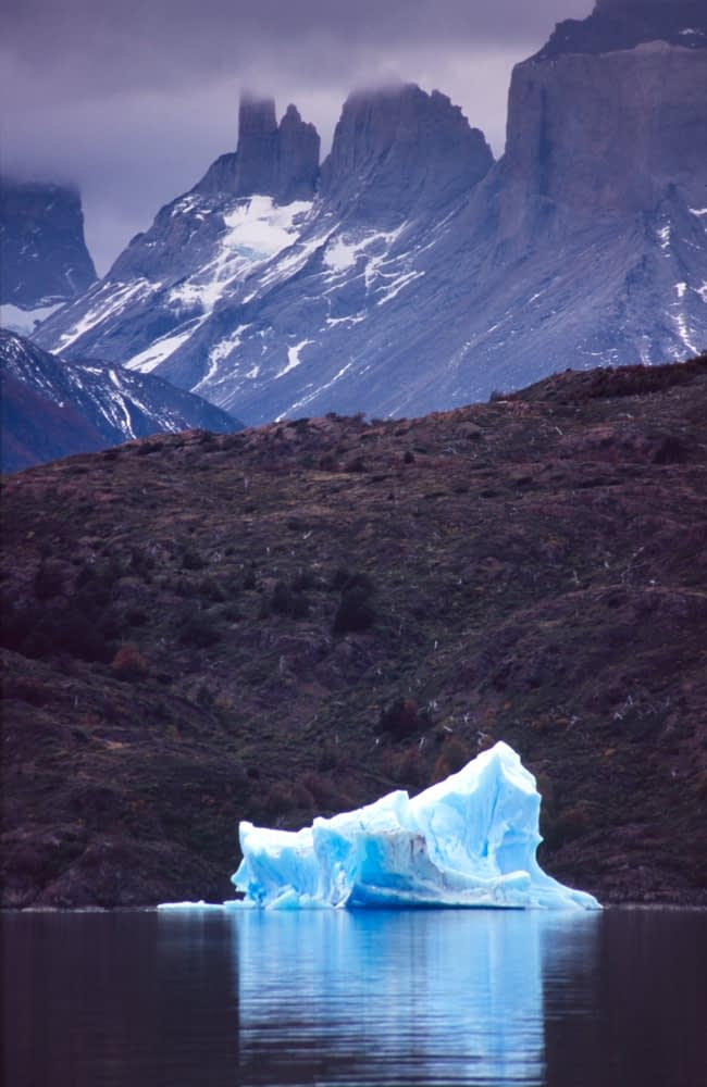 Iceberg in Lago Grey, Torres del Paine National Park, Patagonia, Chile.