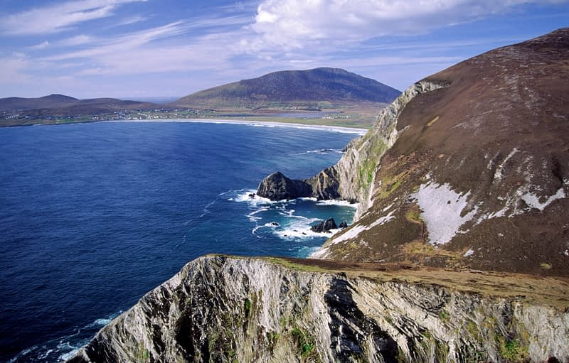 The Menawn Cliffs, Achill Island, Co Mayo, Ireland.