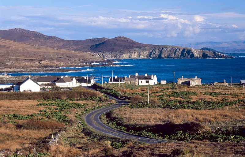 The village of Dooega, Achill Island, Co Mayo, Ireland.