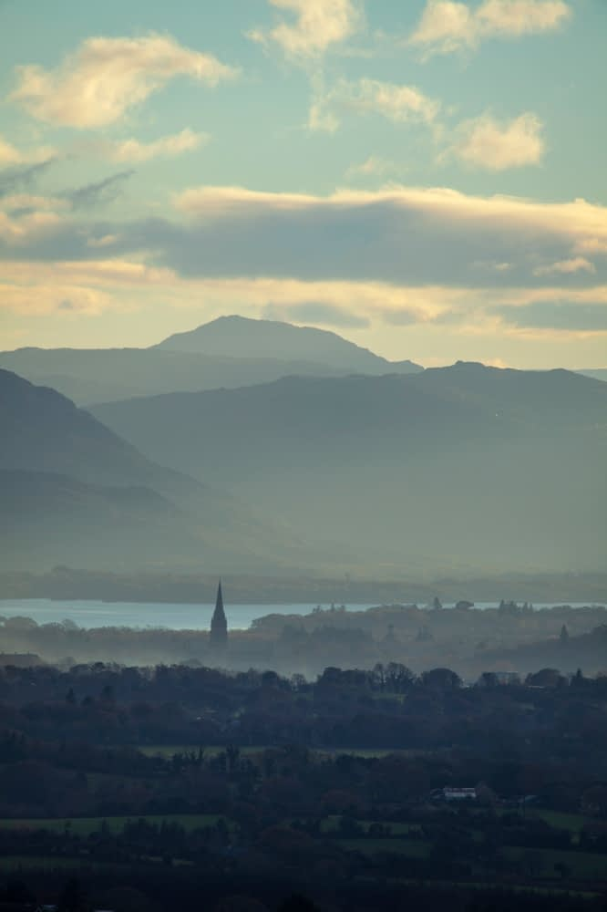 Killarney and the national park beyond, County Kerry, Ireland.