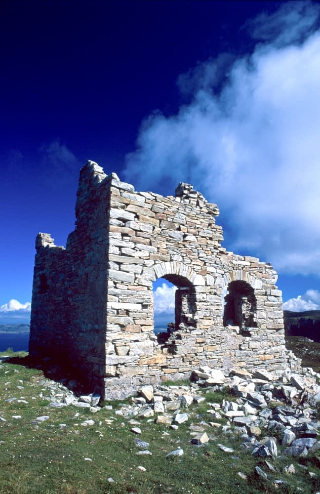 Ruined signal tower, Horn Head, Co Donegal, Ireland.