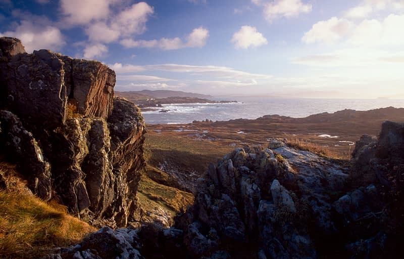 View over Breasty Bay, Inishowen, Co Donegal, Ireland.