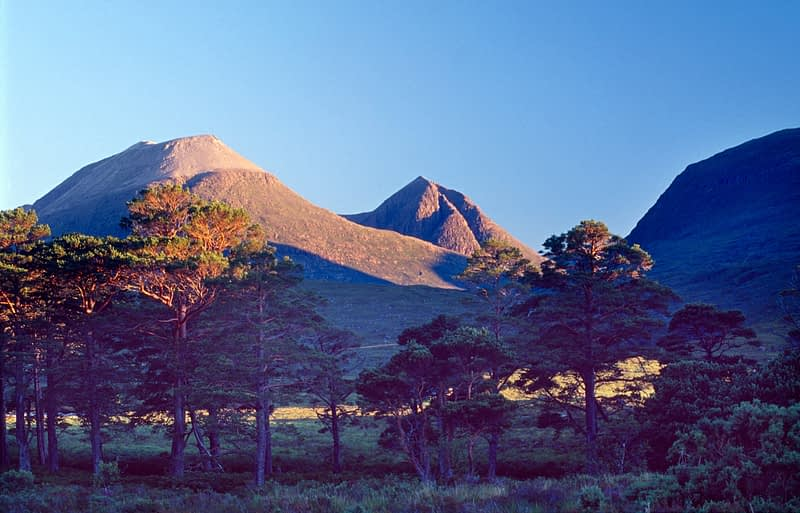 Peaks of the Flowerdale Forest, Wester Ross, Scotland.