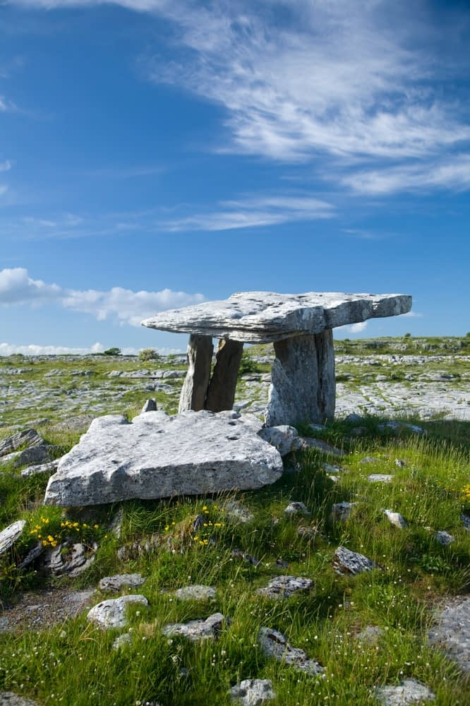 Poulnabrone Dolmen, The Burren, Co Clare, Ireland.