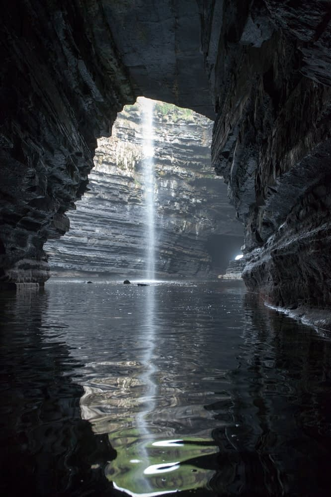 The sea cavern of Polladarky, near Ballycastle, County Mayo, Ireland.