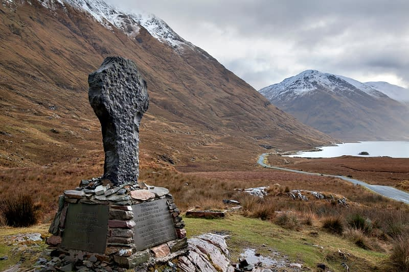Famine Memorial, Doolough, County Mayo, Ireland.