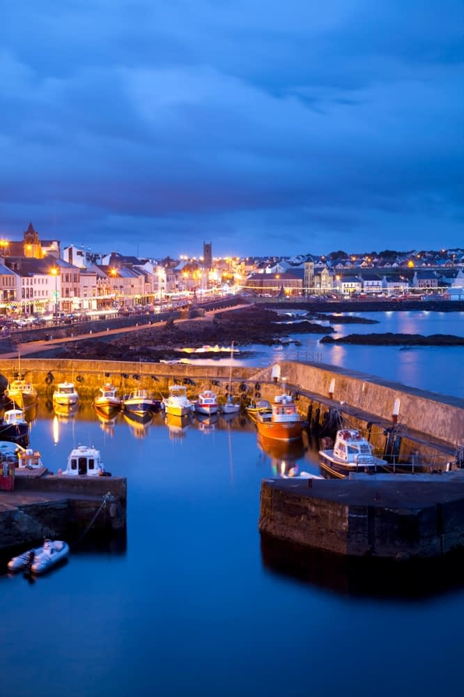 Portstewart at dusk, Co Derry, Northern Ireland.