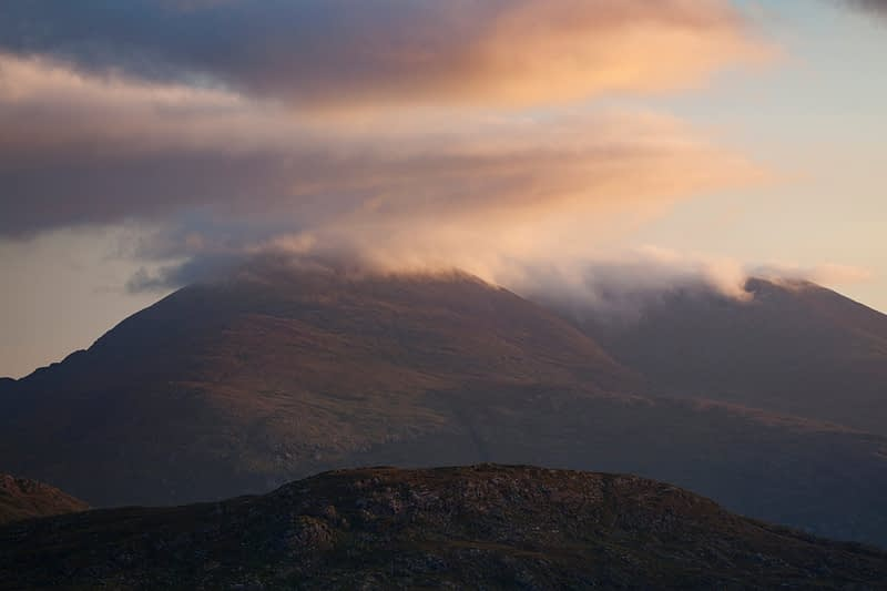 Purple Mountain at sunrise, MacGillicuddy's Reeks, County Kerry, Ireland.