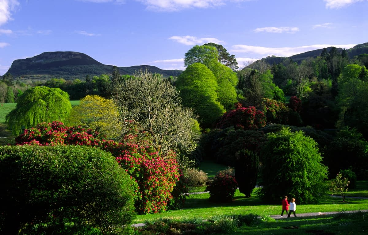 Gardens of the Florence Court estate, Co Fermanagh, Northern Ireland.
